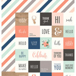 Pebbles - DIY Home Collection - 12 x 12 Double Sided Paper - From Me To You