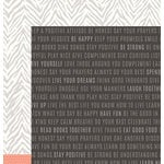 Pebbles - DIY Home Collection - 12 x 12 Double Sided Paper - Words To Live By