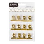 Pebbles - DIY Home Collection - Gold Clips