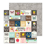 Pebbles - Patio Party Collection - 12 x 12 Double Sided Paper - From Me To You