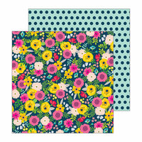 Pebbles - Patio Party Collection - 12 x 12 Double Sided Paper - Bouquets