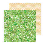 Pebbles - Patio Party Collection - 12 x 12 Double Sided Paper - Ferns