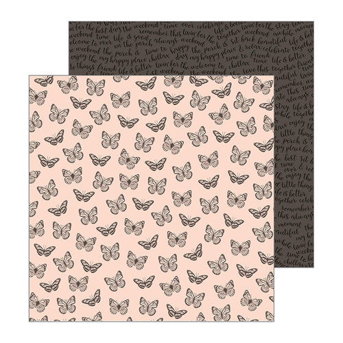 Pebbles - Patio Party Collection - 12 x 12 Double Sided Paper - Flutterflies