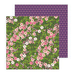 Pebbles - Patio Party Collection - 12 x 12 Double Sided Paper - Wandering Wildflowers