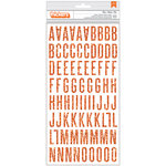Pebbles - Boo Collection - Halloween - Thickers - Chipboard - Glitter - Orange