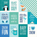 Pebbles - Winter Wonderland Collection - Christmas - 12 x 12 Double Sided Paper - Snowfun