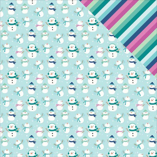 Pebbles - Winter Wonderland Collection - Christmas - 12 x 12 Double Sided Paper - Snow Day