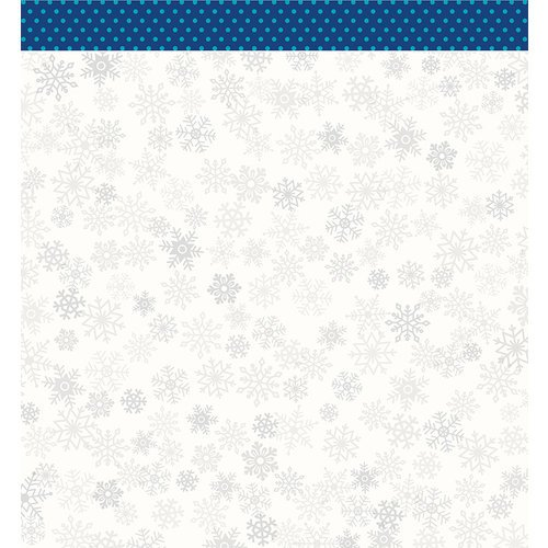 Pebbles - Winter Wonderland Collection - Christmas - 12 x 12 Double Sided Paper - Flurries