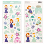 Pebbles - Winter Wonderland Collection - Christmas - Cardstock Stickers with Glitter Accents - Princess