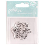 Pebbles - Winter Wonderland Collection - Christmas - Clear Acrylic Stamps - Snowflake