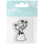 Pebbles - Winter Wonderland Collection - Christmas - Clear Acrylic Stamps - Princess