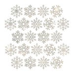 Pebbles - Winter Wonderland Collection - Christmas - Ephemera Snowflakes with Glitter Accents
