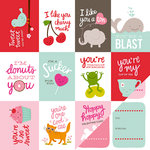 Pebbles - Be Mine Collection - 12 x 12 Double Sided Paper - Valentine's
