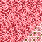 Pebbles - Be Mine Collection - 12 x 12 Double Sided Paper - Scattered Love