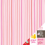 Pebbles - Be Mine Collection - 12 x 12 Double Sided Paper - Sweet Stripes