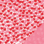 Pebbles - Be Mine Collection - 12 x 12 Double Sided Paper - Love Is In The Air