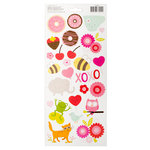 Pebbles - Be Mine Collection - Cardstock Stickers