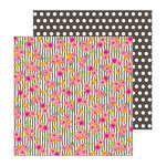 Pebbles - Patio Party Collection - 12 x 12 Double Sided Paper - Tablescape