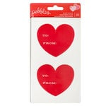 Pebbles - Be Mine Collection - Cardstock Stickers - To and From Hearts