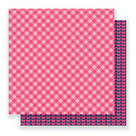 Pebbles - Everyday Collection - 12 x 12 Double Sided Paper - Pink Picnic