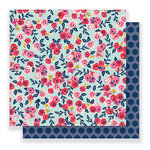 Pebbles - Everyday Collection - 12 x 12 Double Sided Paper - Floral Skies