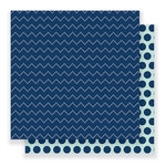 Pebbles - Everyday Collection - 12 x 12 Double Sided Paper - Dotted Chevron