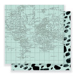 Pebbles - Everyday Collection - 12 x 12 Double Sided Paper - World View
