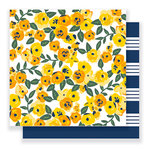 Pebbles - Everyday Collection - 12 x 12 Double Sided Paper - Sunny Blossoms