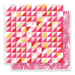 Pebbles - Everyday Collection - 12 x 12 Double Sided Paper - Angled Tiles