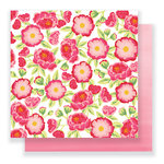 Pebbles - Everyday Collection - 12 x 12 Double Sided Paper - Pretty Peonies