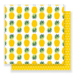 Pebbles - Everyday Collection - 12 x 12 Double Sided Paper - Pineapples