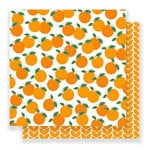 Pebbles - Everyday Collection - 12 x 12 Double Sided Paper - Mandarins