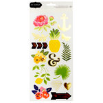 Pebbles - Everyday Collection - Cardstock Stickers with Foil Accents - Accents