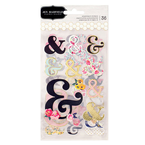 Pebbles - Everyday Collection - Cardstock Stickers with Foil Accents - Ampersand