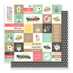 Pebbles - Spring Fling Collection - 12 x 12 Double Sided Paper - From Me To You