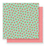 Pebbles - Spring Fling Collection - 12 x 12 Double Sided Paper - Strawberry Fields