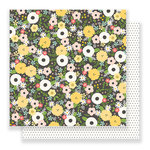 Pebbles - Spring Fling Collection - 12 x 12 Double Sided Paper - Chalkboard Floral