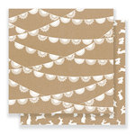 Pebbles - Spring Fling Collection - 12 x 12 Double Sided Paper - Doily