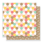 Pebbles - Spring Fling Collection - 12 x 12 Double Sided Paper - Patchwork