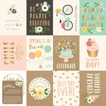 Pebbles - Spring Fling Collection - 12 x 12 Paper with Foil Accents - Cut Outs