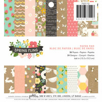 Pebbles - Spring Fling Collection - 6 x 6 Paper Pad