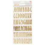 Pebbles - Spring Fling Collection - Thickers - Foil - Celebrate - Gold