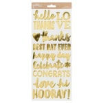 Pebbles - Spring Fling Collection - Cardstock Stickers with Foil Accents - Phrases