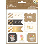 Pebbles - Spring Fling Collection - Cardstock Stickers Book with Foil Accents - Accents