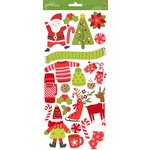 Pebbles - Holly Jolly Collection - Christmas - Cardstock Stickers - Icons