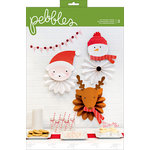 Pebbles - Holly Jolly Collection - Christmas - Character Rosettes