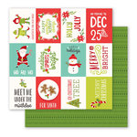 Pebbles - Holly Jolly Collection - Christmas - 12 x 12 Double Sided Paper - Happy Holidays