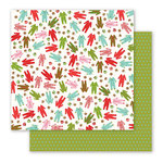 Pebbles - Holly Jolly Collection - Christmas - 12 x 12 Double Sided Paper - Pajama Party