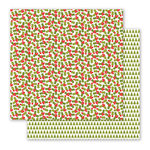 Pebbles - Holly Jolly Collection - Christmas - 12 x 12 Double Sided Paper - Holly