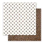 Pebbles - Holly Jolly Collection - Christmas - 12 x 12 Double Sided Paper - Oh Deer